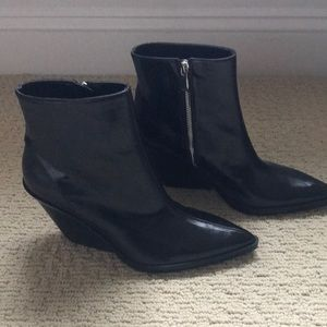 Zara Leather Western Boots